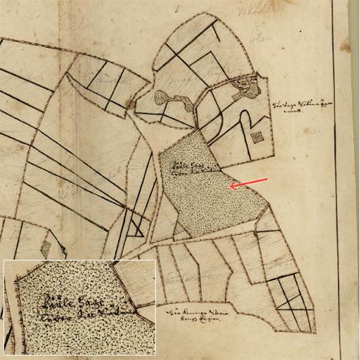 Karta över Fålhagen från 1635