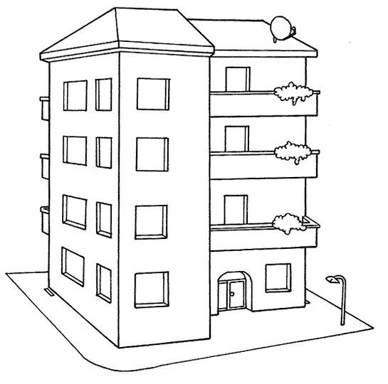 Tipos de casas desenhos tipos de casas para colorir - Tipos de tejados para casas ...