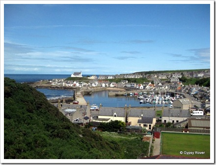 Findochty harbour and fishing village.