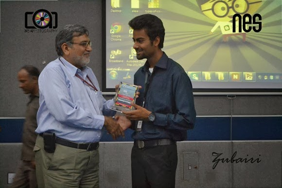 Muhammad Ali Haider Receiving Shield