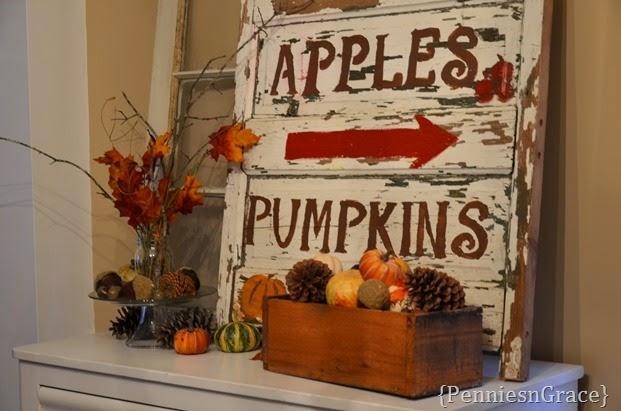 Fall door sign