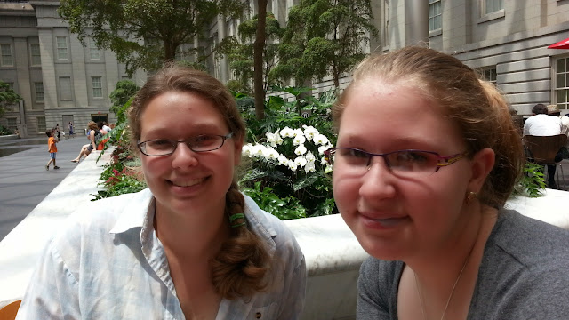 Girls Relaxing at the National Portrait Gallery Atrium