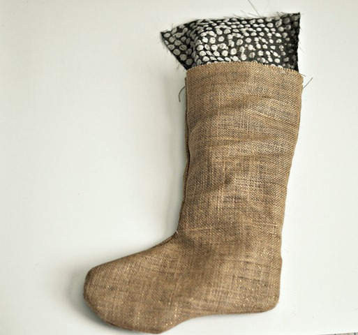 Burlap Stockings Step 5