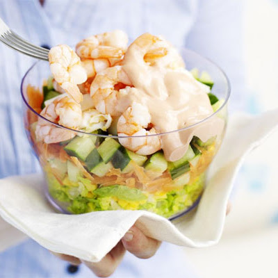Prawn Layered Salad