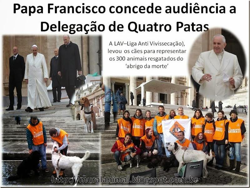 Papa Francisco concede audiência a Delegação de Quatro