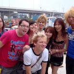 group photo at 7am at yokohama bayside in Yokohama, Kanagawa, Japan