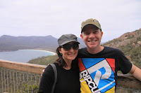Ben and Chelle at Wineglass bay
