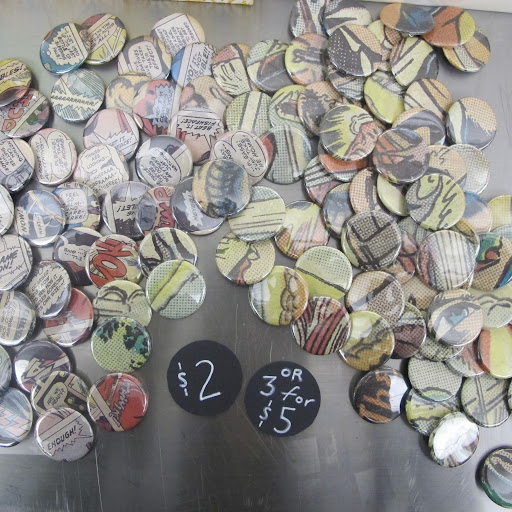 Sarah Sims Erwin had buttons for sale as well as buttons you could make. http://sarahsimserwindesign.blogspot.com/