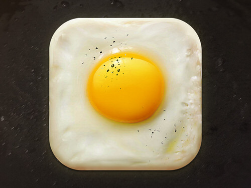 Egg ios app icon delicious