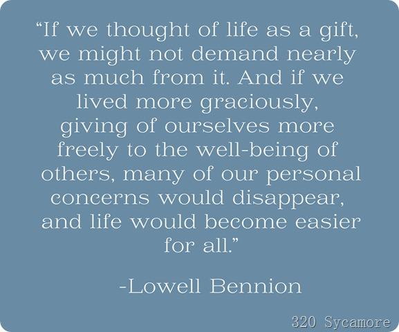 bennion life gift