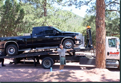 To Colorado, RV park and tow truck 058