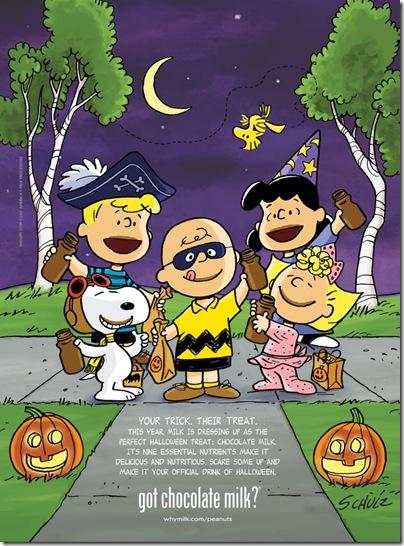 Peanuts Got Chocolate Milk Hallowen 2011