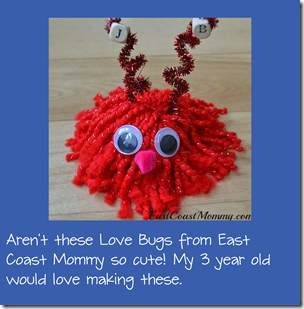 love bug monster craft for kids at valentines day