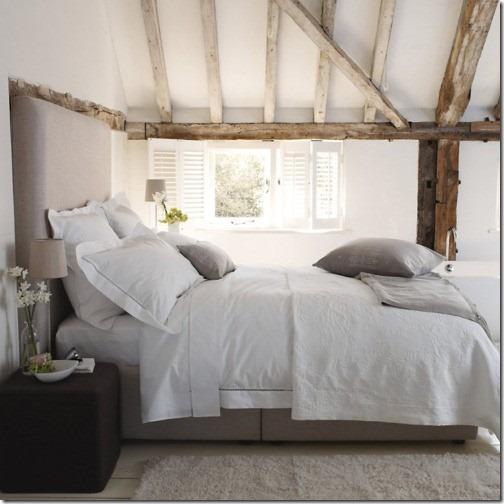 White And Greige Bedroom Modern Headboard Via Pinterest