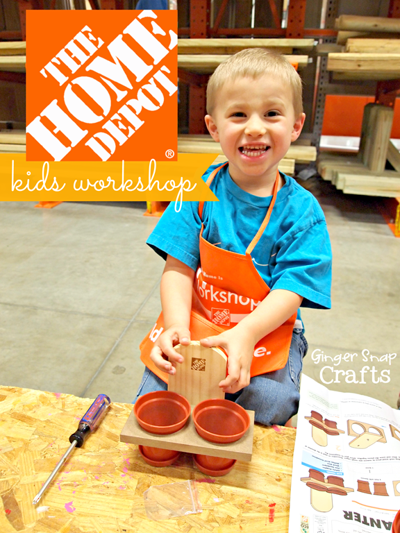 The Home Depot Kids Workshop {first Saturday, every month} #digin GingerSnapCrafts.com