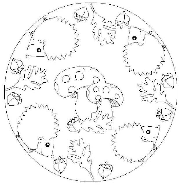 MANDALA OF ANIMALS COLORING