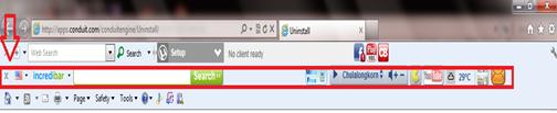 การลบ Toolbar ในเวบบราวเซอร์