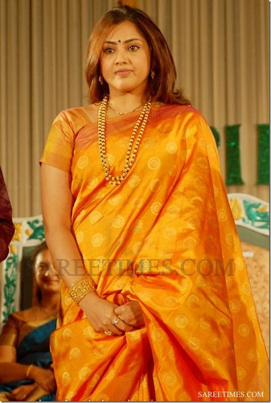Meena_Orange_Designer_Silk_Saree