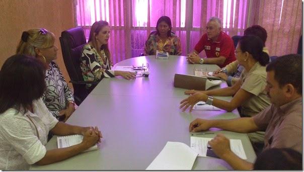 Kalina Leite reunida com os Conselhos
