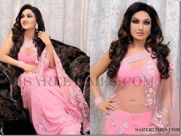 Ramya_Sree_Pink_Saree