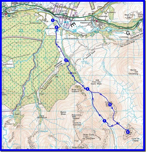 My route - 20 km, 1000 metres ascent, 5 hours