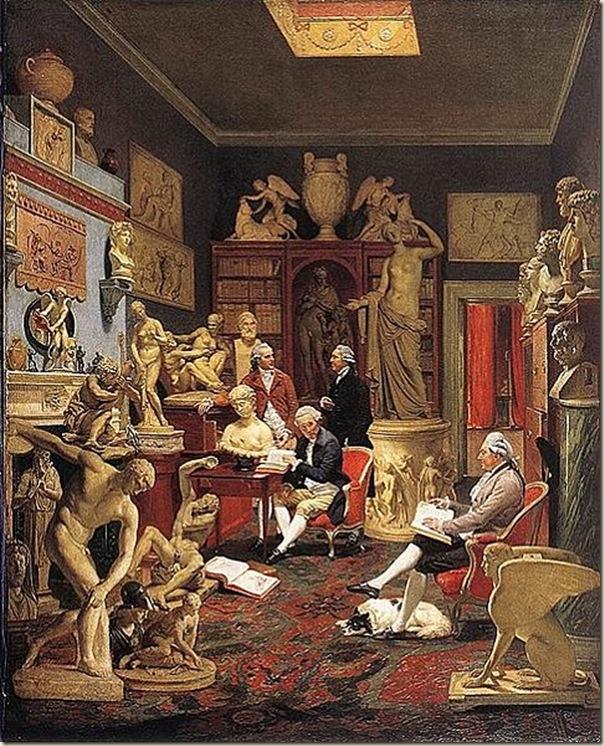 Johann Zoffany,Bibliothèque de Charles Towneley