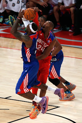 lebron james nba 130217 all star houston 63 game 2013 NBA All Star: LeBron Sets 3 pointer Mark, but West Wins