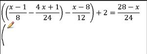 verifica equazione