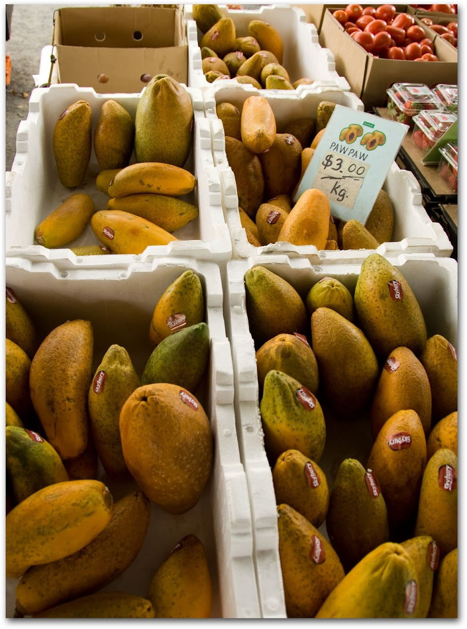 Mangoes and papayas