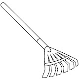 Leaf rake coloring pages for Rake coloring page