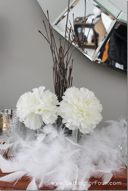 Mantle Decor from Setting for Four #mantle #decor #white #diy #design