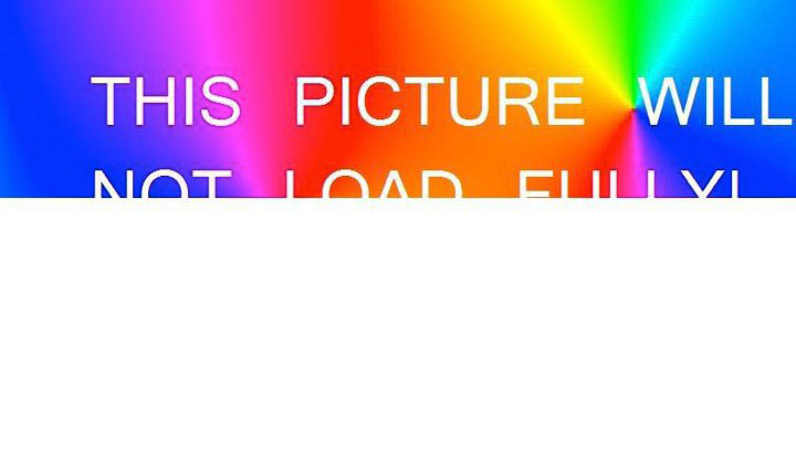This picture will not load fully!