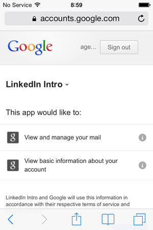 LinkedIn will have access to view and manage mail