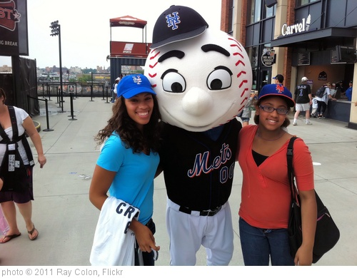 'Citi Field - Simone, Mr. Met, and Maritza - Mets-Yanks 20110703 032' photo (c) 2011, Ray Colon - license: http://creativecommons.org/licenses/by/2.0/
