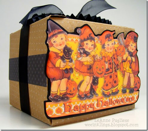 LeAnne Pugliese WeeInklings Vintage Halloween Postcard Treat Box 1