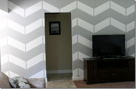 living room project, herringbone wall (14)