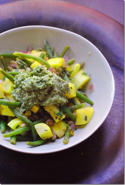 ratatouille with vegan pesto