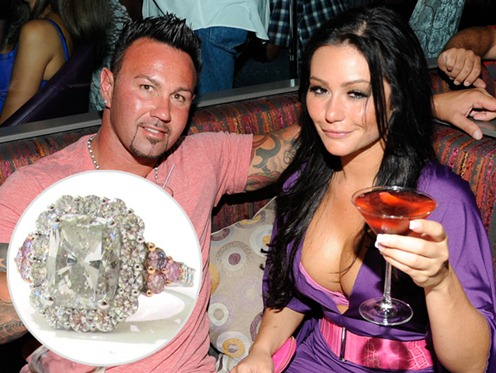 Roger Mathews and Jwoww Diamond Engagement Ring