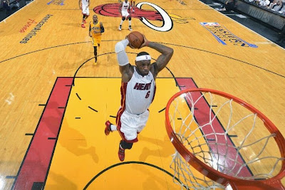 lebron james nba 140524 mia vs ind 27 game 3 LeBron, D Wade and Ray Allen Lead Miamis Comeback in Game 3