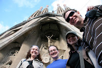 The gang in front of Sagrada Familia