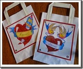 Tattoo themed wedding favor bags 2