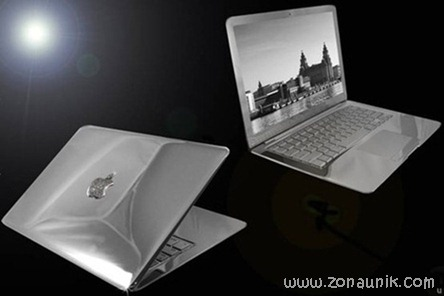 Laptop Termewah di Dunia terbuat dari berlian 25.5 karat