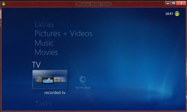 Tambah Windows 8 dengan Media Center