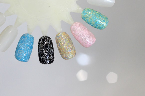 BARRY M CONFETTI NAIL EFFECTS SWATCHES