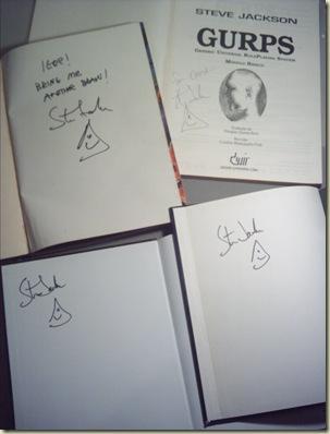 Gurps Autografados