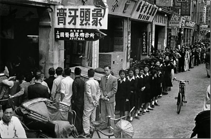 456 台灣 1952 排隊聽胡適演講