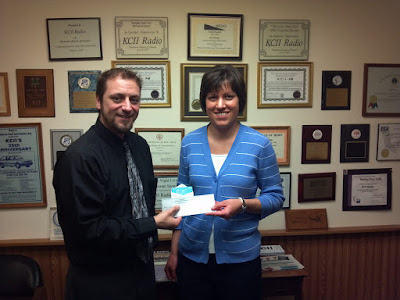 KCII's General Manager Joe Nichols with Alicia Pacha from Brighton