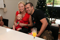 Oscar with Aunty Susan and Uncle Jason