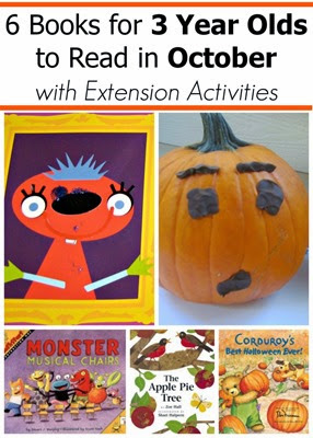 October Book Picks for 2 and 3 year olds with extension activities