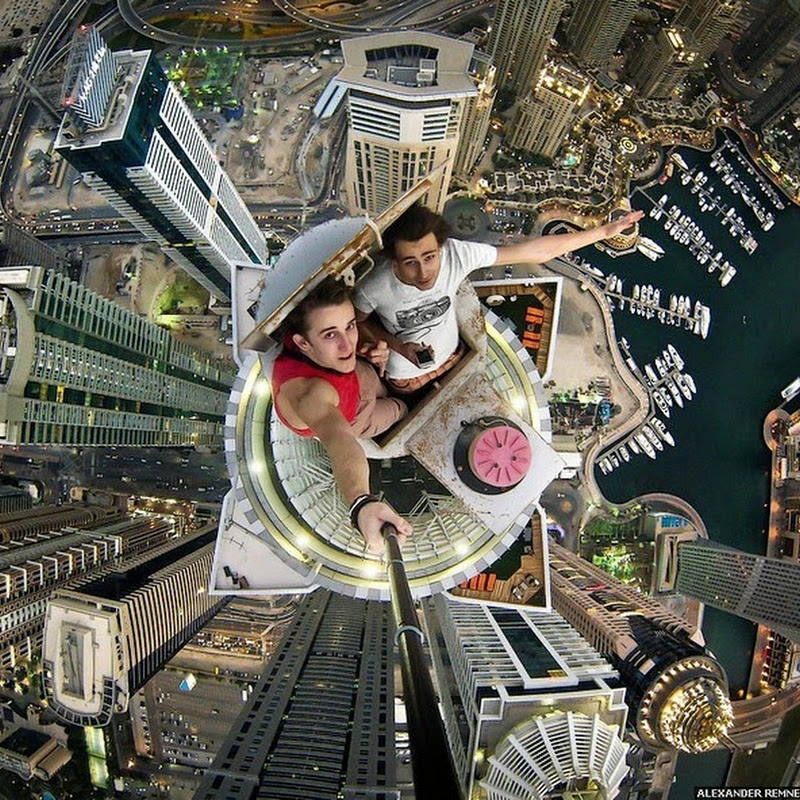 Vertigo Inducing Selfies by Russian Photographer